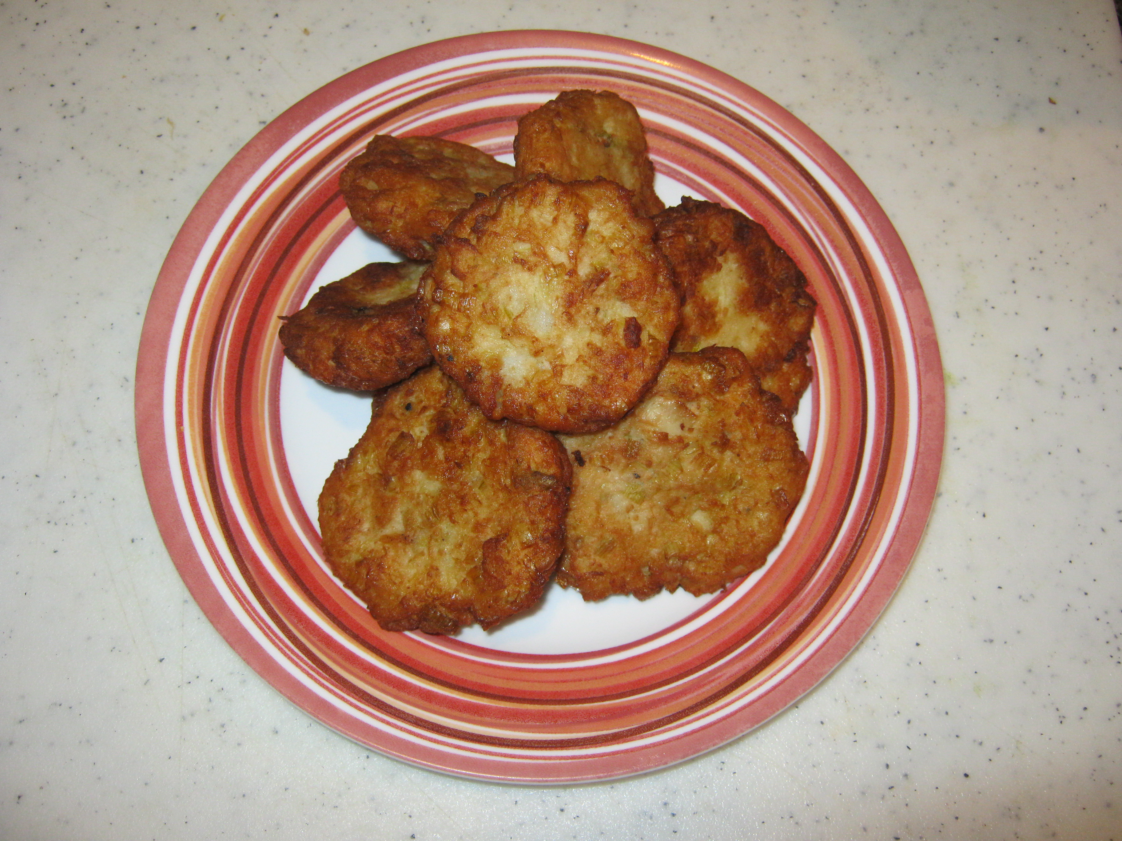 Leek patties