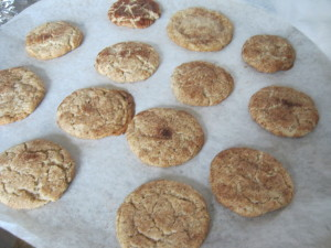 pan of snickerdoodles -yes they are KLP!