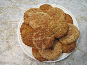 snickerdoodles plate